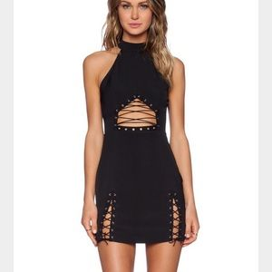 NBD Lace Up Dress